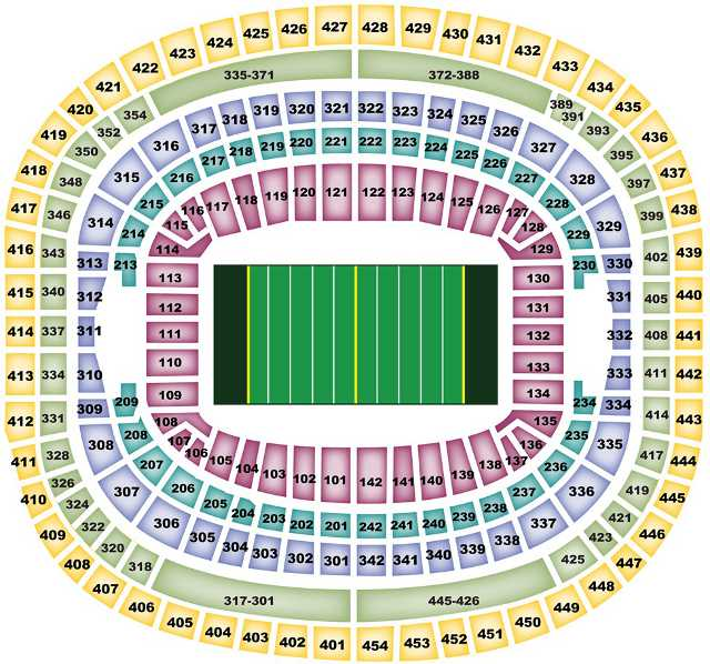 Washington Redskins Seating Chart for FedEx Field